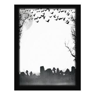 Halloween Graveyard Scene Silhouette 21.5 Cm X 28 Cm Flyer