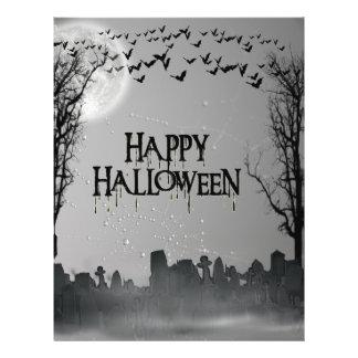 Halloween Graveyard Scene Silhouette Flyer