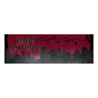 Halloween Graveyard Scene Silhouette Pack Of Skinny Business Cards
