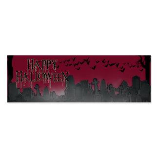 Halloween Graveyard Scene Silhouette Pack Of Skinny Business Cards