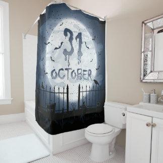 Halloween graveyard scenes 31 october shower curtain