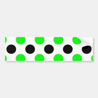 Halloween Green and Black Polka Dots Bumper Sticker