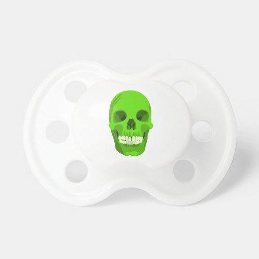 Halloween Green Skull Pacifier