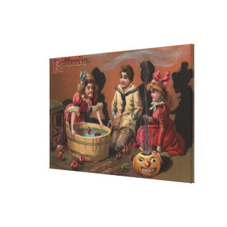 Halloween GreetingBobbing for Apples #2 Canvas Print