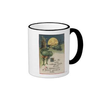 Halloween GreetingCabbage Anthropomorphism Coffee Mugs