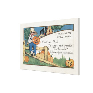 Halloween GreetingHist and Hark Canvas Print