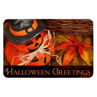 Halloween Greetings Rectangular Photo Magnet