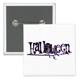 Halloween Greetings With Skeleton Hands Pinback Button