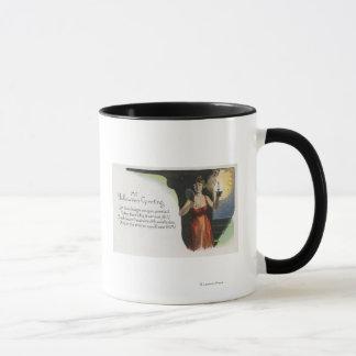 Halloween GreetingWoman with Candle Mug