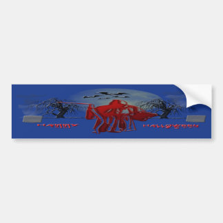 Halloween Grim Reaper Bumper Sticker
