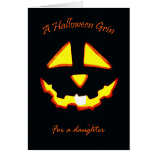 Halloween Grin for Daughter, Jack o' Lantern Card