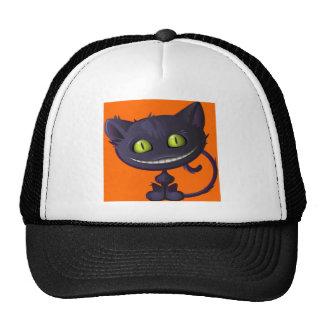 Halloween Grinning Black Cat Cap
