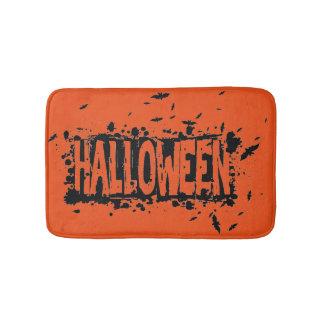 Halloween Grunge Silhouette Background Bath Mat