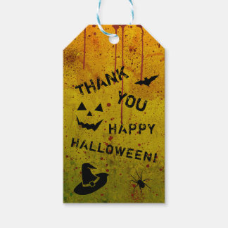 Halloween Grungy Blood Splattered Gift Tags