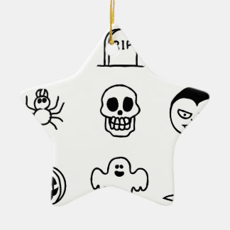 Halloween Hand Drawn Icon Set Christmas Ornament