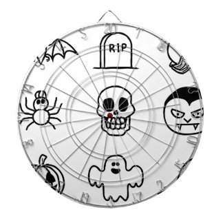 Halloween Hand Drawn Icon Set Dart Board