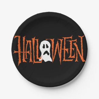 HALLOWEEN HAND LETTERING | PARTY PAPER PLATES 7 INCH PAPER PLATE