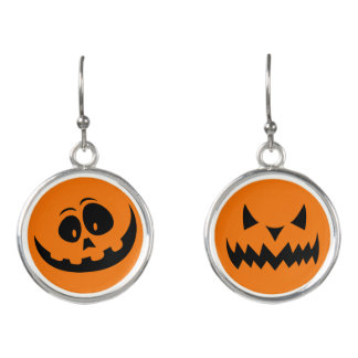 Halloween Happy Evil Pumpkin Earrings