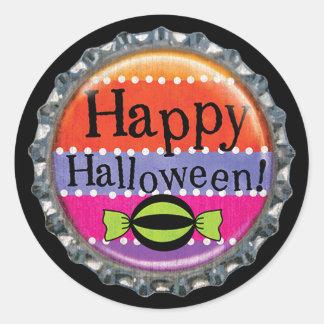 Halloween Happy Halloween Bottle Cap Classic Round Sticker