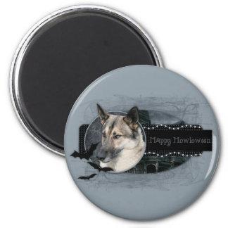 Halloween - Happy Howloween - German Shepherd 6 Cm Round Magnet