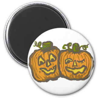 Halloween Happy Pumpkin Customizable Products Fridge Magnets
