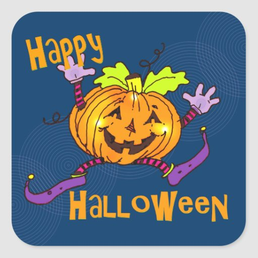 Halloween Happy Pumpkin Stickers