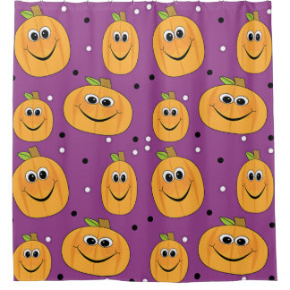 Halloween Happy Pumpkins Shower Curtain