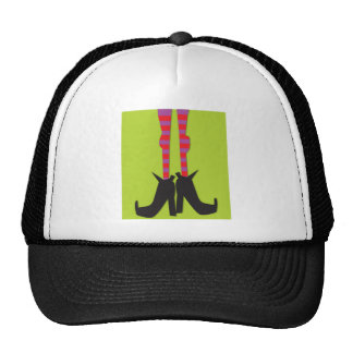 Halloween hat with a design of witch s feet