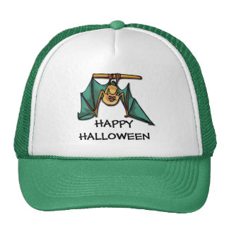 Halloween Hat with Hanging Bat Design