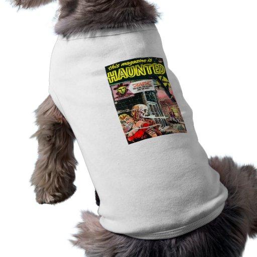 Halloween Haunted Comic Book Doggie Shirt