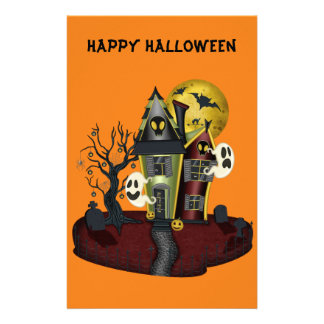 Halloween Haunted House 14 Cm X 21.5 Cm Flyer
