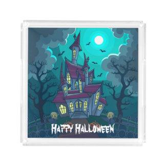 Halloween Haunted House Acrylic Tray