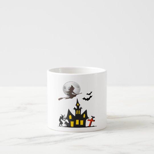Halloween Haunted House Espresso Mug