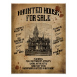 Halloween Haunted House For Sale Poster