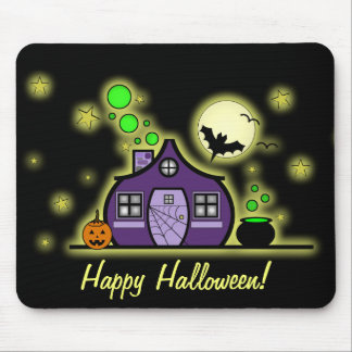 Halloween Haunted House / Green Brew Mousepad