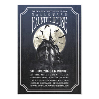 Halloween Haunted House Invitations