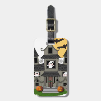 Halloween Haunted House Luggage Tag