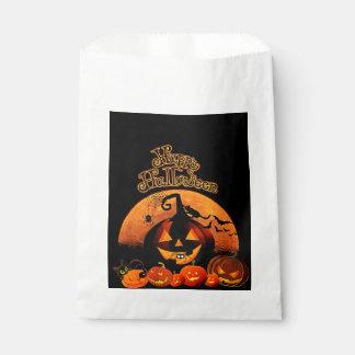 Halloween, Haunted House, Orange Moon Treat Bags Favour Bags
