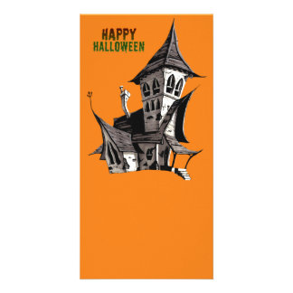 Halloween Haunted House Photo Card Template