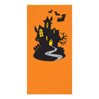 Halloween Haunted House Picture Card