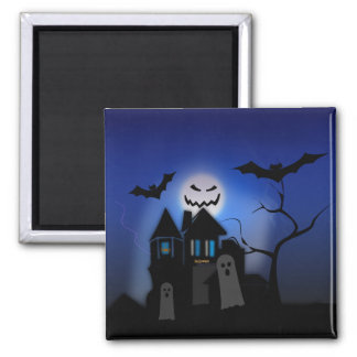 Halloween Haunted House -- Scary Refrigerator Magnets