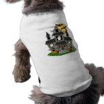 Halloween Haunted House Sleeveless Dog Shirt