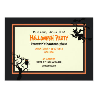 "Halloween Haunted Place Party Invitation 5"" x 7"""