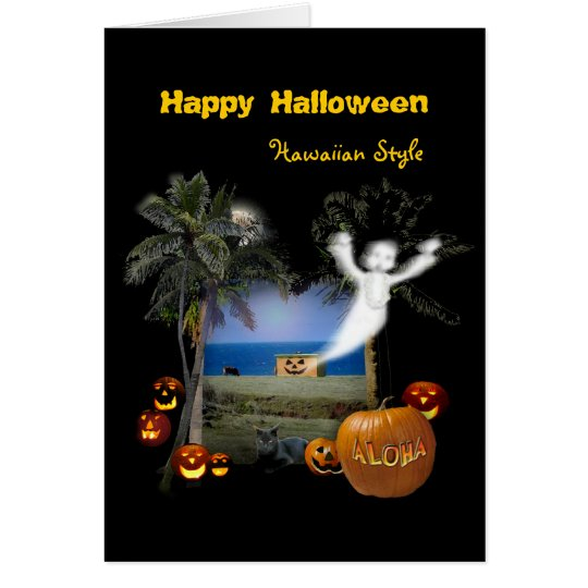 Halloween Hawaiian Style Card