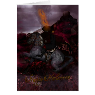 Halloween Headless Horseman Fantasy Art Card