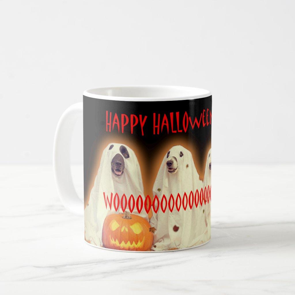 Halloween Hell Hounds Ghost Dog Spooky Coffee Mug