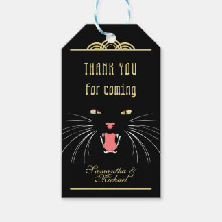 Halloween Hissing Cat Black Fun Thank You Gift Tag