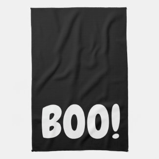 HALLOWEEN HOLIDAY GRAPHIC BOO KITCHEN DISH TOWEL