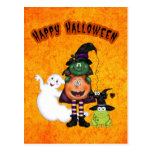 Halloween Holiday postcard
