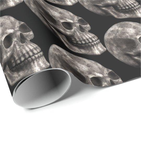 Halloween Holiday scary skull tiled party wrap Wrapping